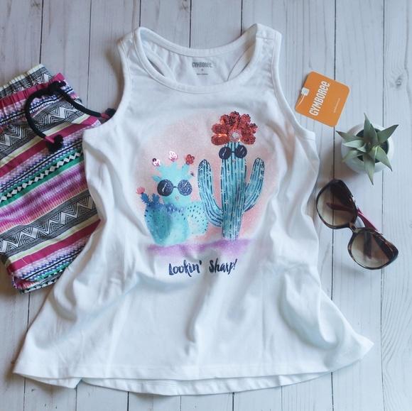 6e45f328 Crazy 8 Shirts & Tops   Girls Sequin Cactus Tank Top   Poshmark
